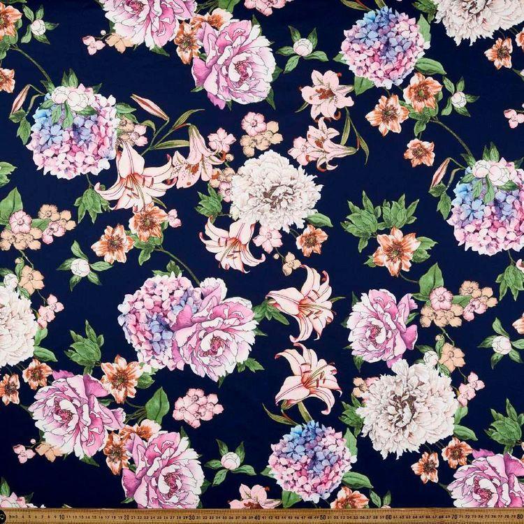 Nouveau Garden Printed 148 cm Ponte Double Knit Fabric