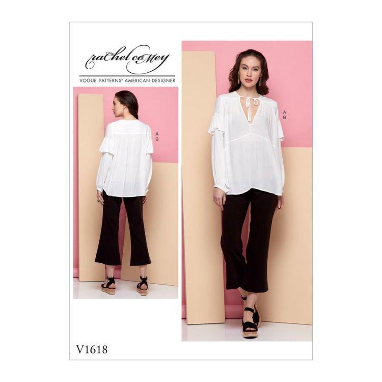 Vogue Pattern V1618 Rachel Comey Misses' Tunic and Pants