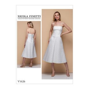 Vogue Pattern V1626 Nicola Finetti Misses'/Misses' Petite Special Occasion Dress