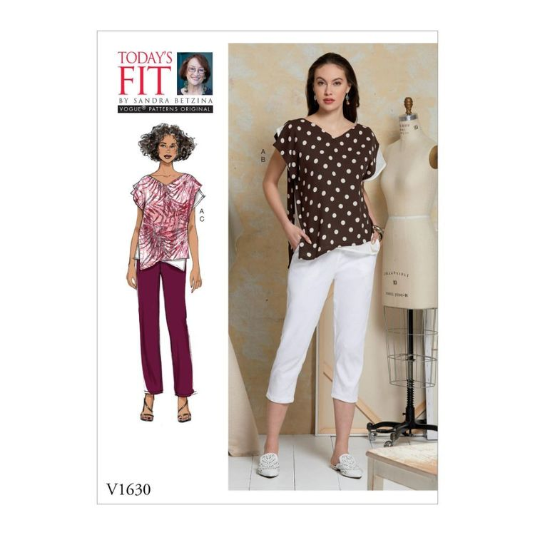 Vogue Pattern V1630 Today's Fit by Sandra Betzina Misses' Top and Pants