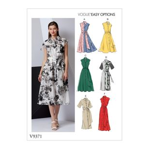Vogue Pattern V9371 Vogue Easy Options Misses' Dress and Belt
