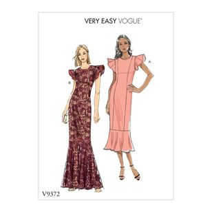 Vogue Pattern V9372 Very Easy Vogue Misses'/Misses' Petite Special Occasion Dress