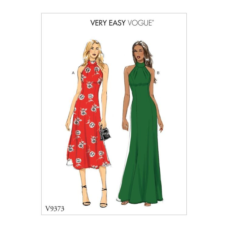 Vogue Pattern V9373 Very Easy Vogue Misses' Special Occasion Dress