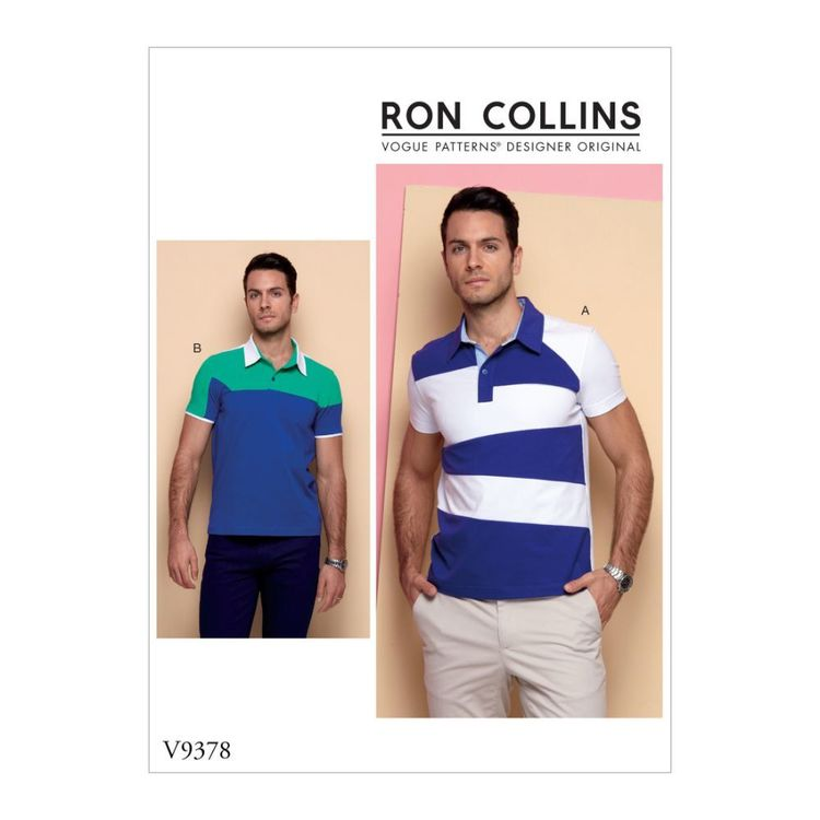 Vogue Pattern V9378 Ron Collins Men's Shirt