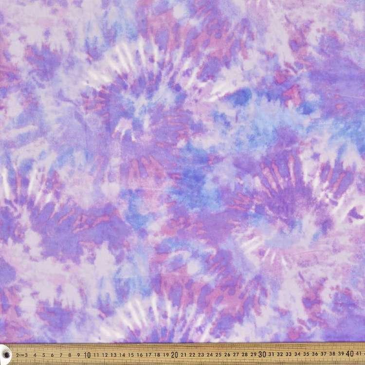 Tie Dye Printed 148 cm Deluxe Velour Fleece Fabric