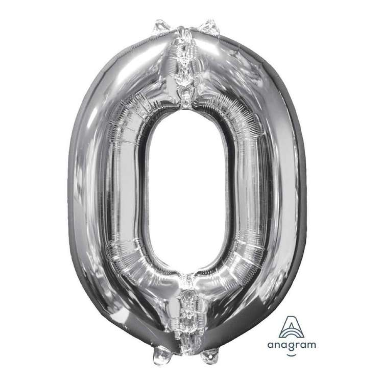 Anagram Number 0 Foil Balloon