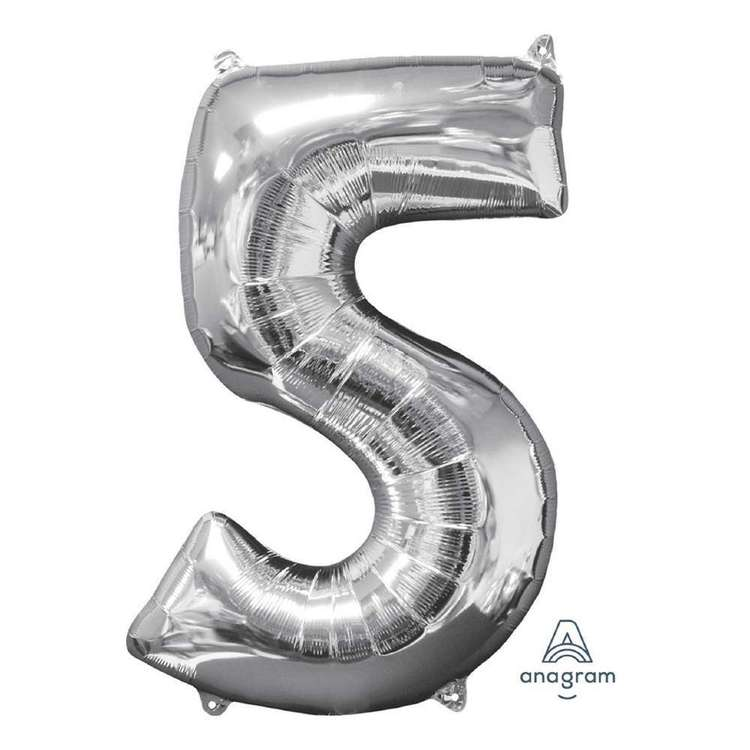 Anagram Number 5 Foil Balloon