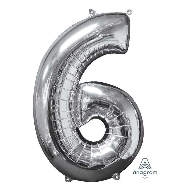 Anagram Number 6 Foil Balloon