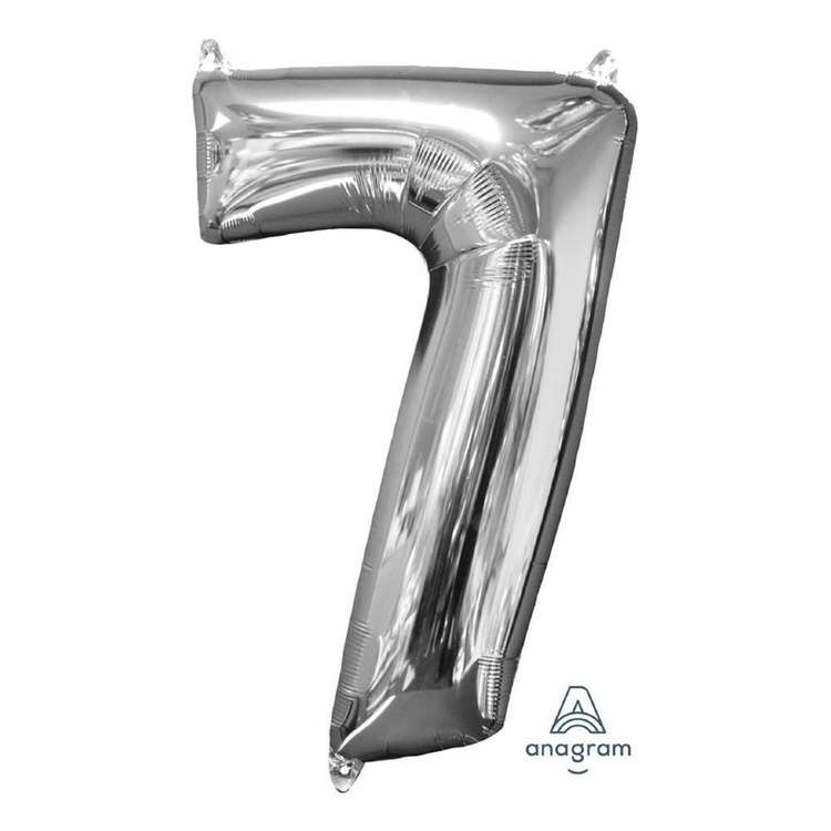 Anagram Number 7 Foil Balloon