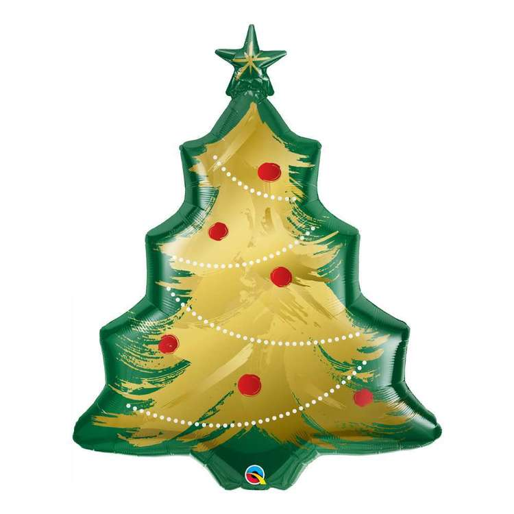 Qualatex Brushed Christmas Tree Foil Balloon