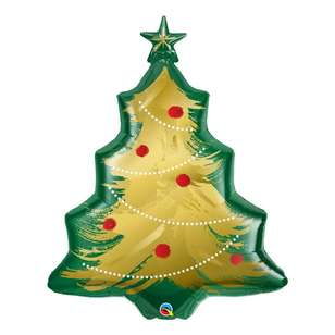Qualatex Brushed Christmas Tree Foil Balloon