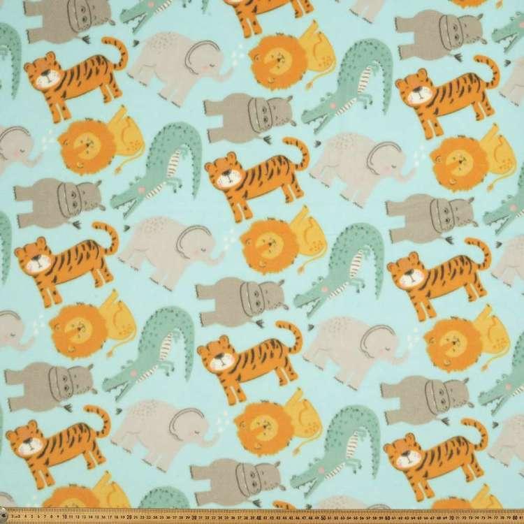 In the Jungle Printed 148 cm Micro Fleece Fabric