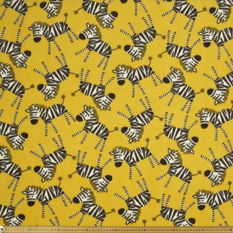 Zebras Printed 148 cm Micro Fleece Fabric