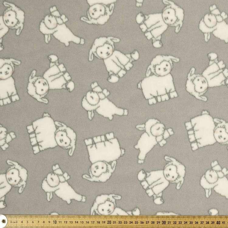 Lambies Printed 148 cm Micro Fleece Fabric