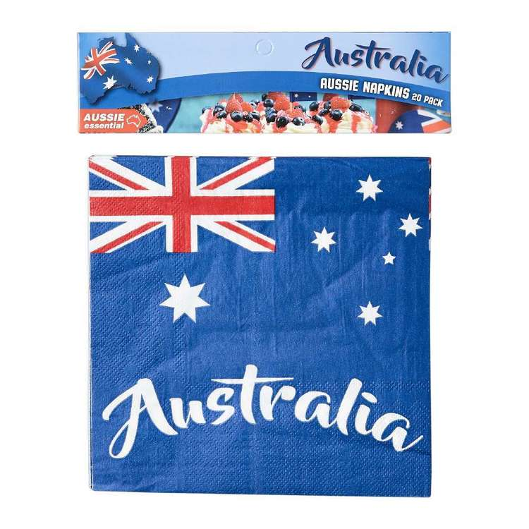 Australia Day Napkins 20 Pack Blue 20 Pack