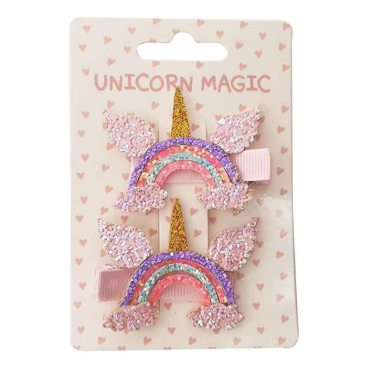 Unicorn Magic Unicorn Rainbow Hair Clips 2 Pack