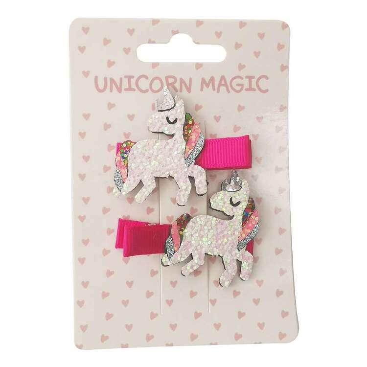 Unicorn Magic Glitter Unicorn Hair Clips 2 Pack