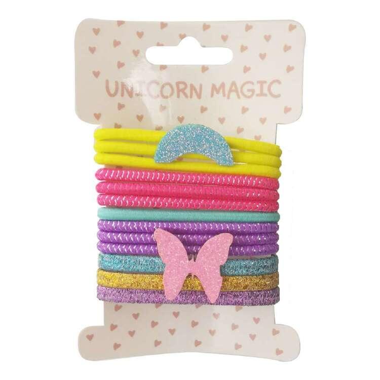 Unicorn Magic Rainbow Butterfly Hair Ties 13 Pack