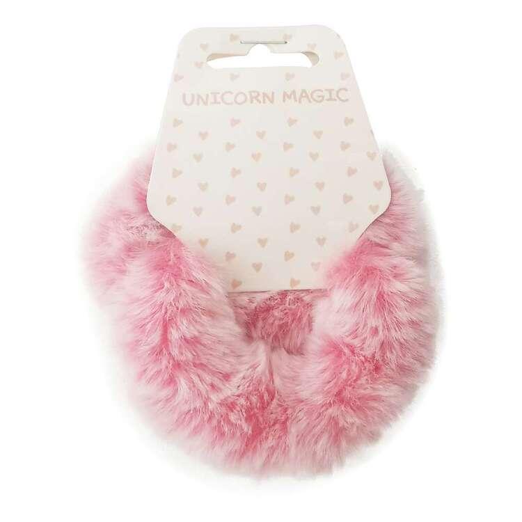 Unicorn Magic Faux Fur Scrunchie 2 Pack