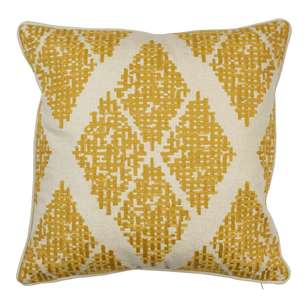 Koo Elite Charo Embroidered Linen Look Cushion