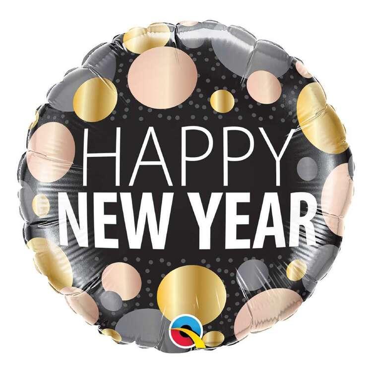 Qualatex New Year Metallic Dots Foil Balloon