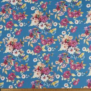 Tea Roses Printed 148 cm Ponte Double Knit Fabric
