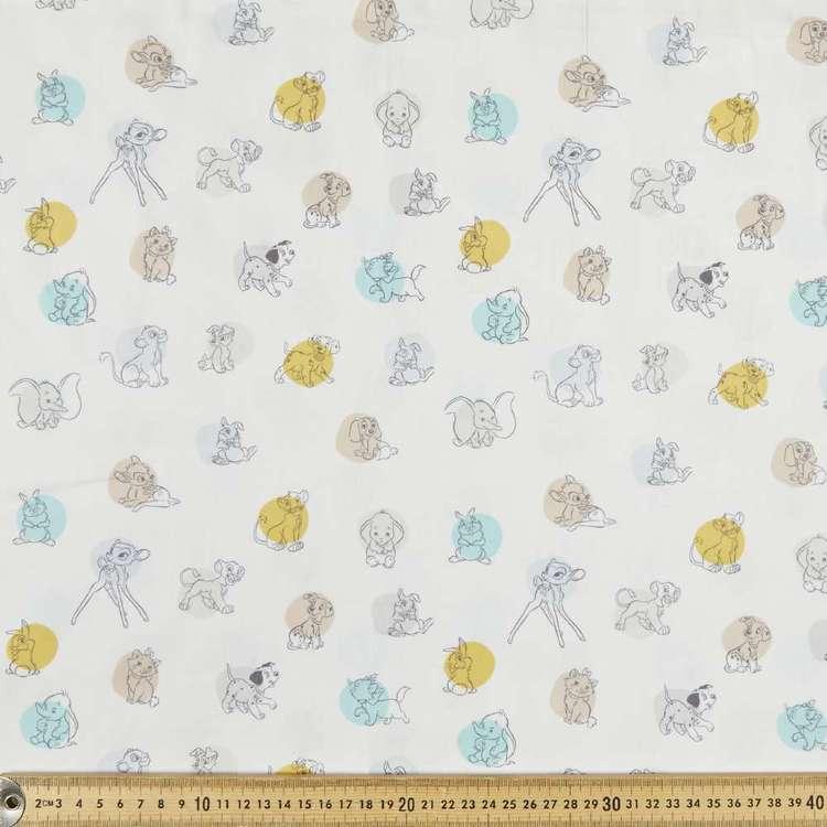 Disney Baby Animals Spots Cotton Poplin Fabric