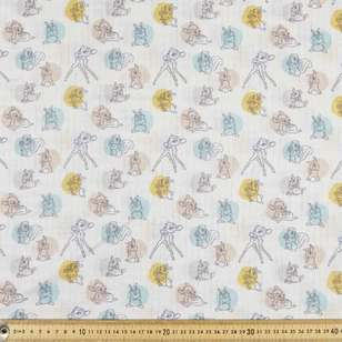 Disney Baby Animals Spots Double Muslin Fabric