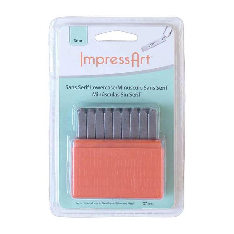 Impressart Basic Sans Serif Lowercase Stamps