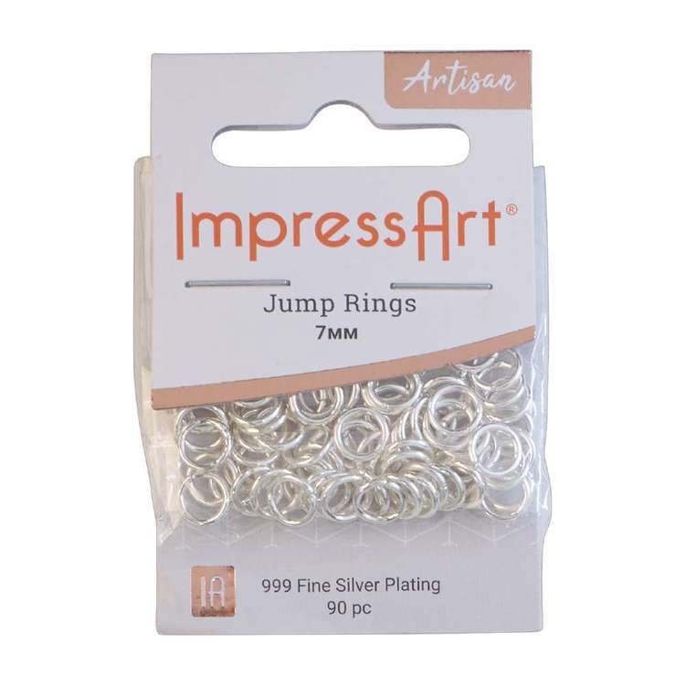 Impressart Silver Plated Jump Rings 90 Pack