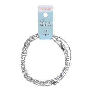 ImpressArt La Ball Chain Necklace 2 Pack