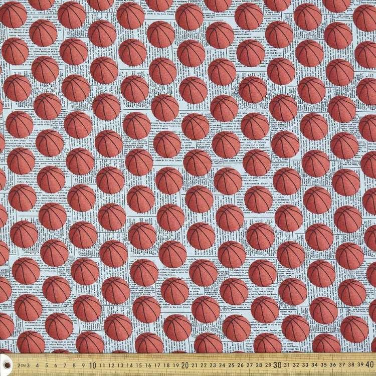 Basketball Kids Organic Cotton Fabric