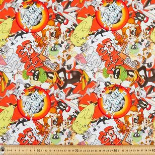 Warner Brothers Looney Tunes Characters Allover Cotton Fabric