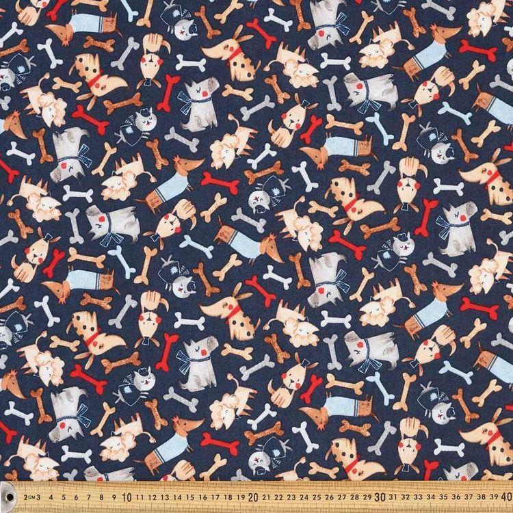Dog Show Allover Cotton Fabric
