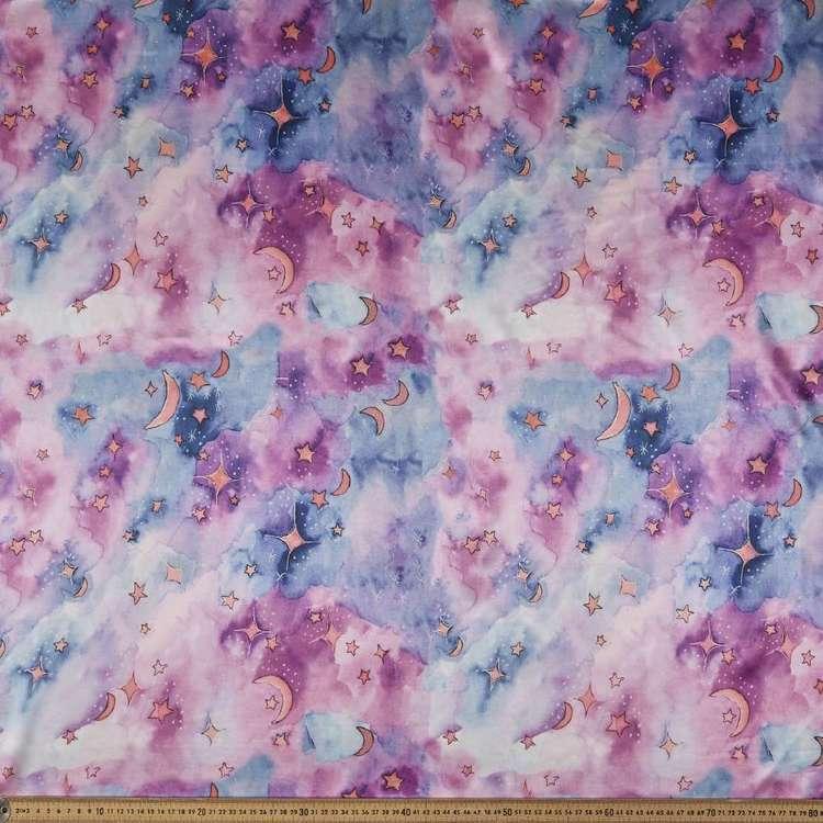 Moon And Star Printed 148 cm Charmeuse Satin Fabric