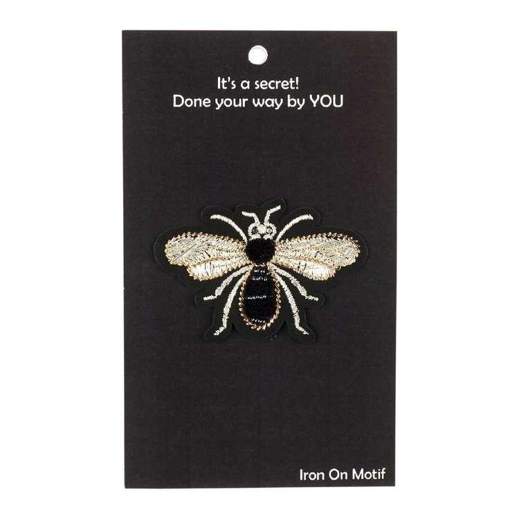 Semco Chenille Bee Iron On Motif