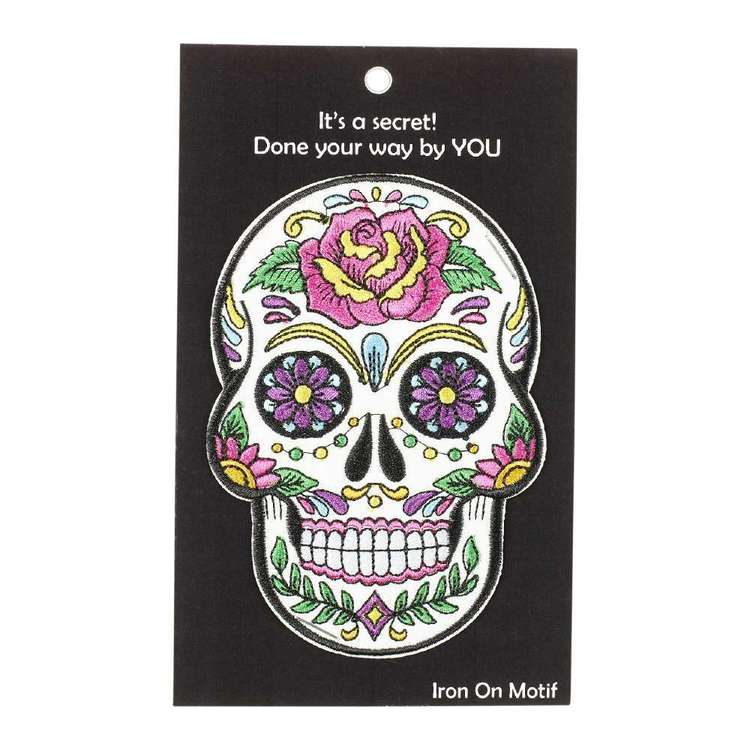 Semco Day Of The Dead Mask Iron On Motif