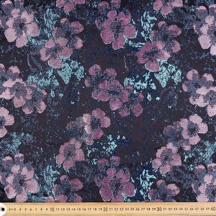 Floral Printed Oriental Brocade Fabric