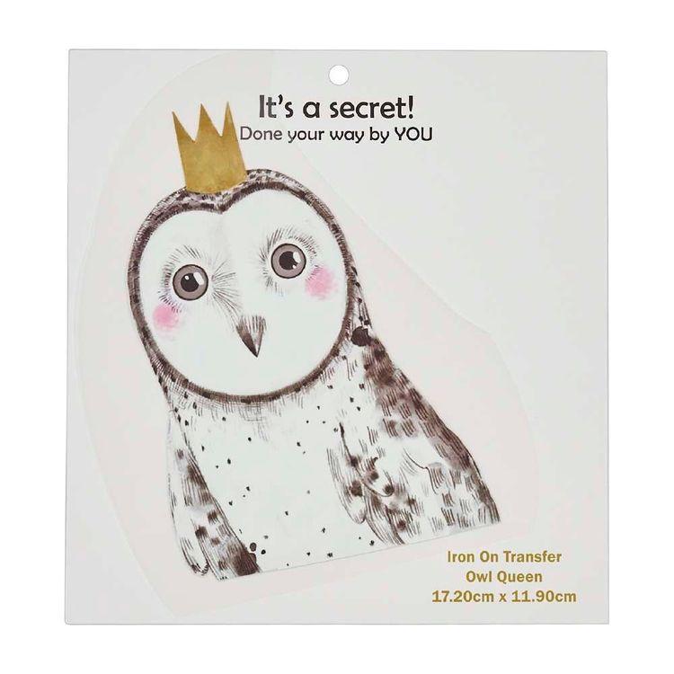 Semco Owl Queen Iron On Transfer