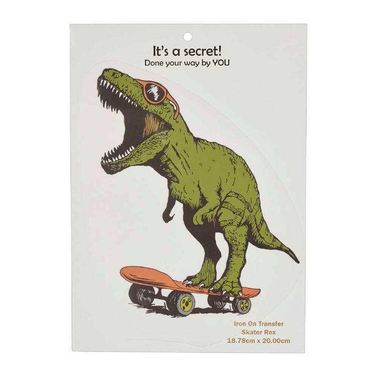 Semco Skater Rex Iron On Transfer