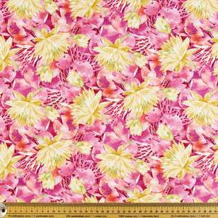 P & B Textiles Digital Water Lily Allover Cotton Fabric