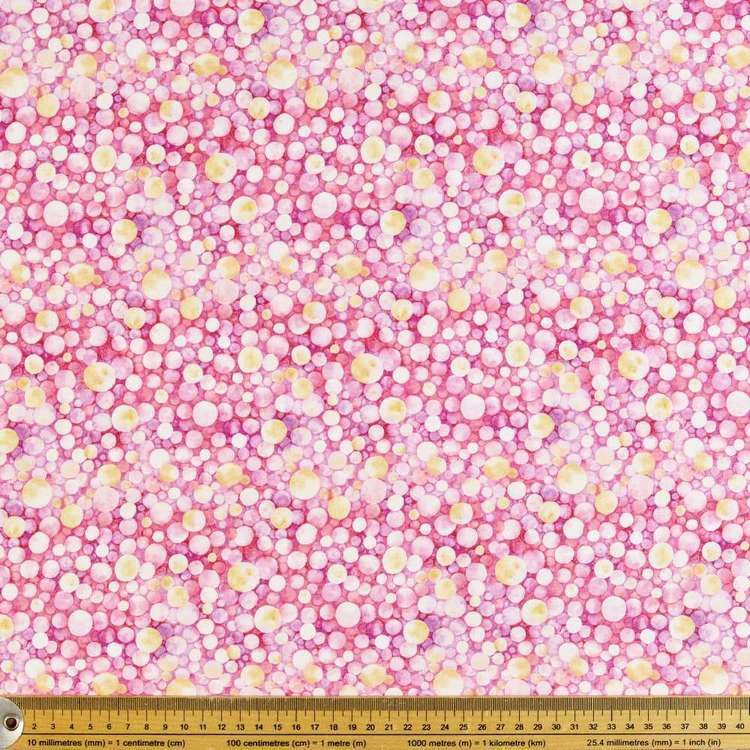 P & B Textiles Digital Water Lily Dots Cotton Fabric