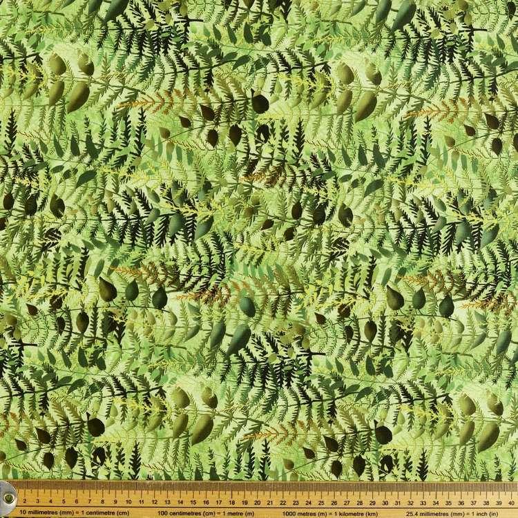 P&B Textiles Digital Rock Garden Ferns Cotton Fabric