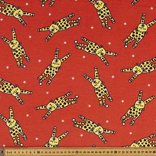 Leopards Printed 148 cm Organic Cotton Jersey Fabric