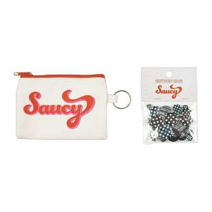 Saucy Canvas Pouch with Button Gift