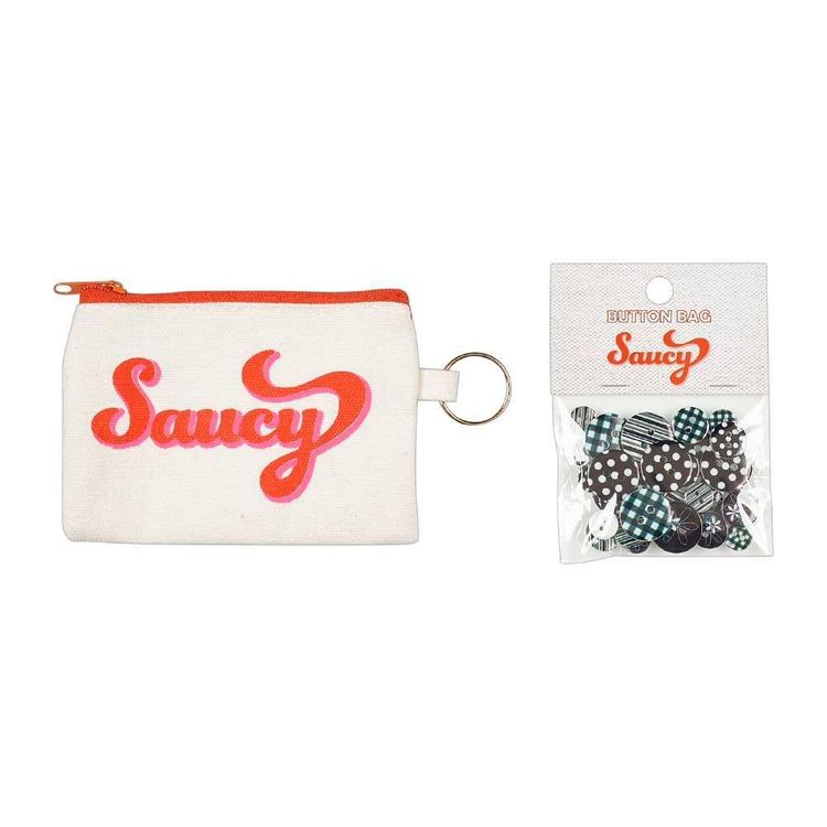 Sweet Canvas Pouch with Button Gift