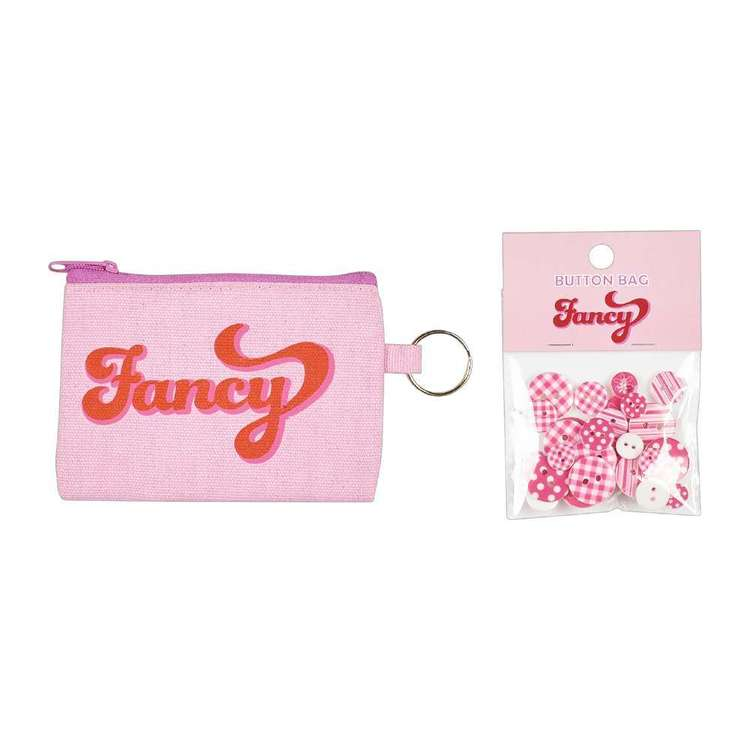 Fancy Canvas Pouch with Button Gift