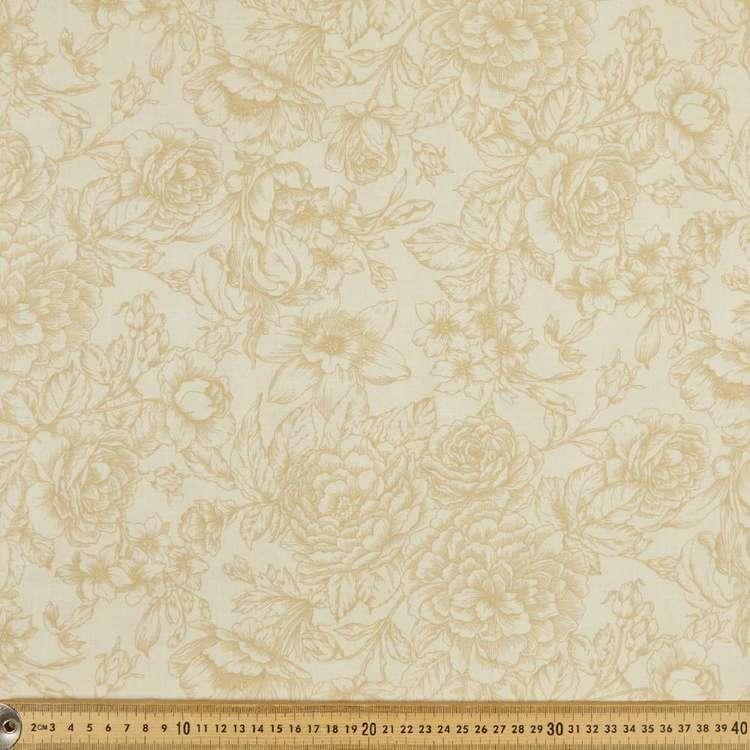 P & B Textiles Large Floral Quilt Backing