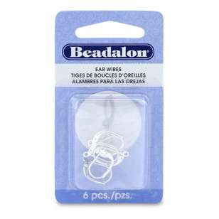 Beadalon Ear Wire Lever 6 Pack