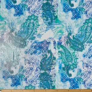 Textile Collection #1 Paisley Printed 130 cm Sequin Fabric